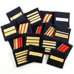 Galon réglementaire des Troupe de Marine de l'Armée Française