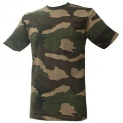 T-shirt Militaire Camouflage CE de face