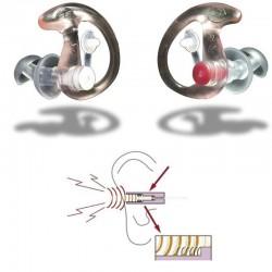 Bouchons d'oreilles anti bruit EP3 au design ergonomique