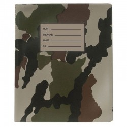 Classeur chef de groupe camouflage au format A5 avec bande d'identification
