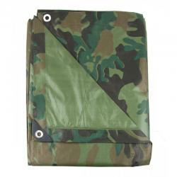 Bâche Multi-Usage Camouflage pliée
