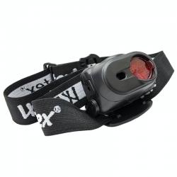 Lampe Frontale WebTex Warrior de face avec filtre rouge coulissant fermé