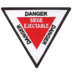 Patch danger triangle siège ejectable