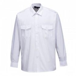 Chemise pilote à épaulettes et 2 poches avant