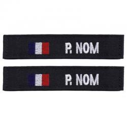 Bande Patro Tissu Noir Drapeau France
