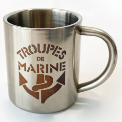 Mini mug troupes de marine de face