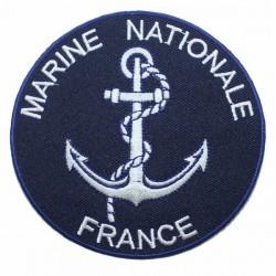 Ecusson Marine Nationale bleu marine