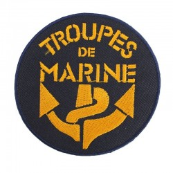 Ecusson brodé Troupes de Marine