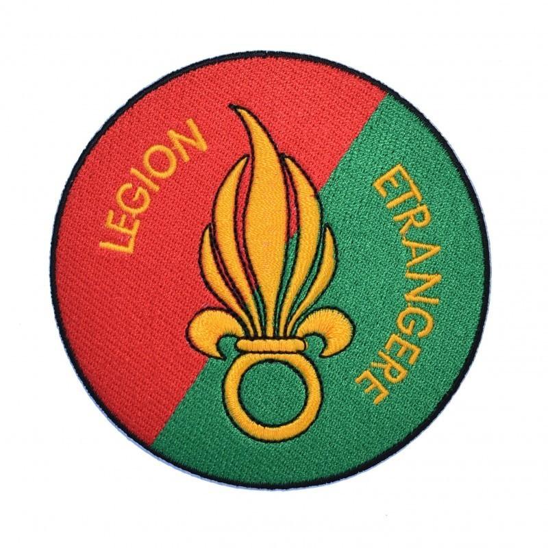 Ecusson Légion Etrangère à fond rouge et vert