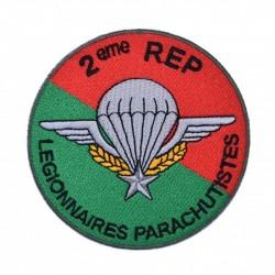 Ecusson brodé Légion Etrangère 2ème Régiment Etranger Parachutistes (2ème REP)