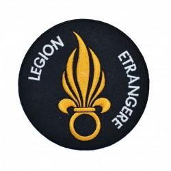 Ecusson brodé Légion Etrangère à fond noir