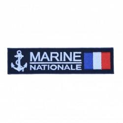 Ecusson rectangulaire brodé Marine Nationale