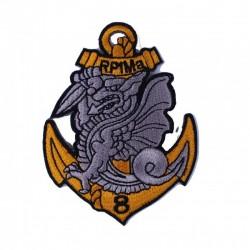 Ecusson brodé 8ème Régiment de Parachutistes d'Infanterie de Marine (8ème RPIMa)