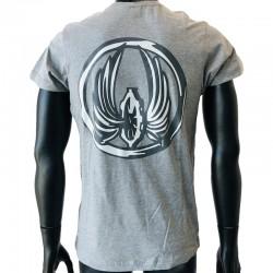 T-Shirt Militaire avec insigne Train application par flocage
