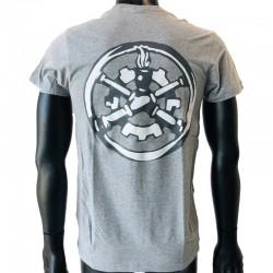 Insigne Matériel en application par flocage au dos du t-shirt