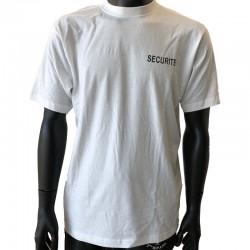 T-shirt blanc pour agent de sécurité doux au touché