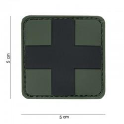 Patch kaki PVC à croix noir