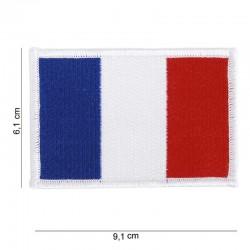 Ecusson brodé du drapeau de la France