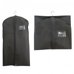 Housse vêtement de voyage à fermeture zippée et pochette transparente