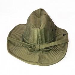 Chapeau de brousse vert armée de face