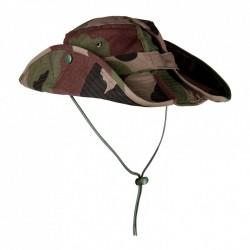 Chapeau de brousse couleur camouflage avec cordons réglable