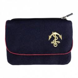 Porte monnaie avec insigne troupe de marine brodé