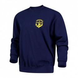 Sweat-Shirt de couleur bleu marine avec logo tdm sur la poitrine