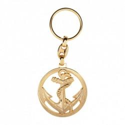 Porte-clé en or au logo Troupe de Marine
