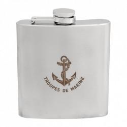 Flasque inox Troupe de Marine