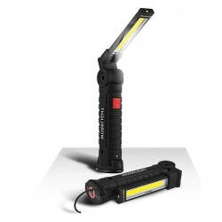 Lampe de poche noire à puissante luminosité d'une autonomie de 8 à 10 heures