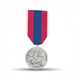 """Médaille ordonnance defence nationale présente une effigie entourée de la mention gravée """"République française"""""""