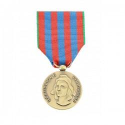 Médaille commémorative française avec ruban rouge, bleu, vert