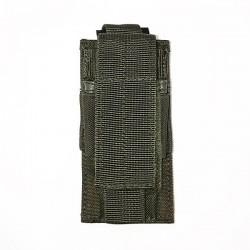 Porte Chargeur Pistolet Automatique 9mm Vert Armée de face