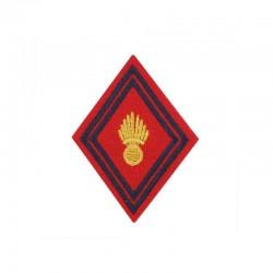 Ecusson bras rouge brodé or Artillerie
