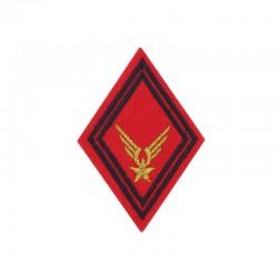 Ecusson Artillerie ALAT brodé or sur fond rouge