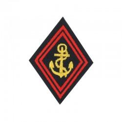 Ecusson de bras pour officier et sous-officier brodé TDM en or et rouge sur fond noir
