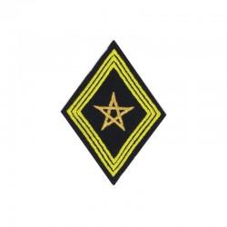 Ecusson de bras pour officier et sous-officier brodé or et jaune sur fond noir Spahis