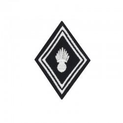Ecusson de bras losange brodé pour caporal, soldat et caporal chef de Troupe ABC Dragon.