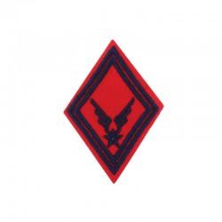 Ecusson de bras losange Artillerie ALAT brodé bleu marine sur un fond rouge