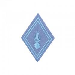 Ecusson de bras losange troupe école militaire brodé bleu ciel